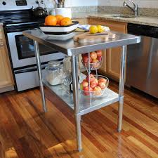 kitchen work tables islands sportsman stainless steel kitchen utility table sswtable the