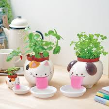 animal planter papa peropon drinking animal planter cat planters cat and animal