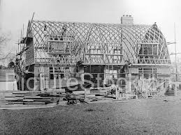 Dutch Barn House Design Dutch Barn Houses C1945 Picture Stockton Archive