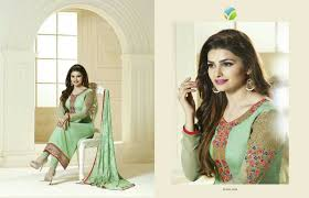 buy gorgeous 31 pd pista green color salwar suit online craftsvilla