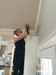 installing crown molding on cabinets how to install crown molding on cabinets sawdust