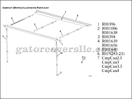 Rv Awning Parts Diagram Parts For Campout Popup Camper Awnings Blue Gator Covers 239