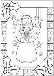 transmissionpress free printable christmas angel colouring