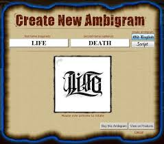 ambigram generator ambigram is one of the artform and
