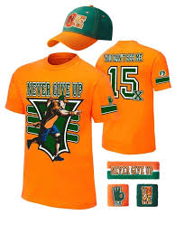 John Cena Halloween Costume John Cena Kids 15x Orange Costume Hat Shirt Wristbands Boys