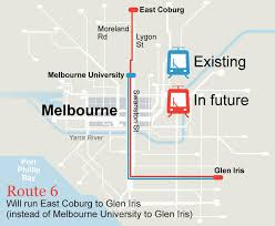 melbourne tram map changes the line for melbourne s tram routes