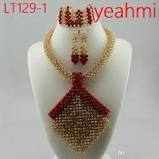 wedding bead necklace images Splendid nigerian wedding beads jewellry set choker necklace set jpg