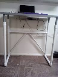 Diy Treadmill Desk Ikea Linnmon Treadmill Desk With Pvc Pipe Legs Treadmill Desk Ikea