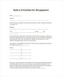 eviction letters 7 free pdf word documents download free