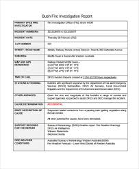 investigation report template 9 investigation report templates free sle exle format