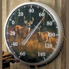 deer outdoor thermometer