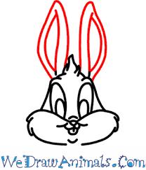 draw baby bugs bunny