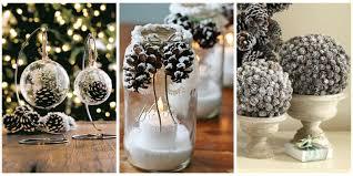 best pinecone centerpiece ideas white pumpkin christmas pine cone