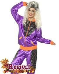 womens 80s shell suit costume revival fancydress