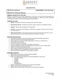 Sample Server Resume by Resume Descriptions For Servers Samplebusinessresume Com Page 32