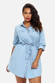 size sophie long sleeve denim shirt dress