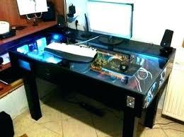 gaming desk designs built in computer desk custom desks pc designs tandemdesigns co