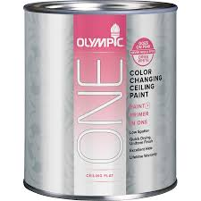 shop olympic one color changing ceiling paint ultra white flat