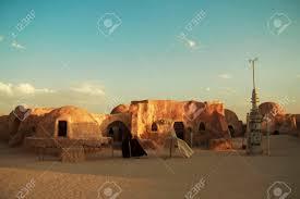star wars decor star wars decor in a desert tatooine planet settelment stock