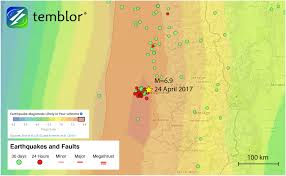 Oregon Earthquake Map by M U003d6 9 Earthquake In Chile Follows Intense Seismic Swarm Temblor Net