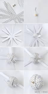 instructions for diy paper ball ornaments handmade ornament no