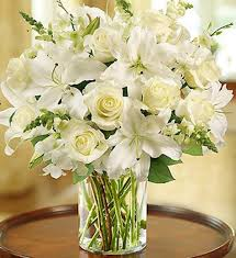 white floral arrangements square florist classic all white floral arrangement boston ma