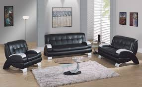 Living Room  Black And White Living Room Set Living Room - Living room decor with black leather sofa