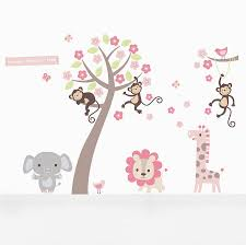 pastel blossom tree with animals wall sticker by parkins interiors pastel blossom tree with animals wall sticker