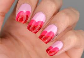 nails just a couple u0027o hearts for valentine u0027s day manimonday