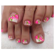 pokadot nails coral nails toe nails designs pinterest