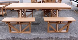 Poly Picnic Tables by Poly 7 U2032 Walk In Picnic Table Amish Traditions Wv