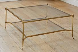 vintage glass coffee table furniture brass and glass coffee table design ideas bronze