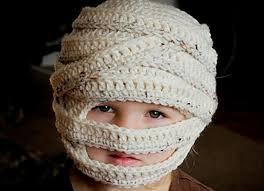 Halloween Costume Mummy Stitching Knitting Accessories Knit Crochet