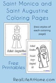 saint monica saint augustine coloring pages printables