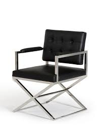 Black Leather Chairs Modern Black Chairs Black Leather Tufted Dining Chair Xg12