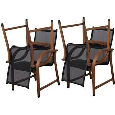 Stackable Patio Furniture Set Amazonia Bahamas Sling Stacking Patio Dining Arm Chairs Set Of 4