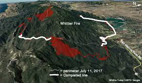 Wild Fire July 2017 by Firefighters Concerned About Possible Sundowner Winds On Whittier