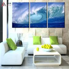 wall arts 3 plane abstract sea wave modern home decor wall art