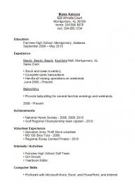 resume template for highschool students with no experience resumes for highschool students resume exles