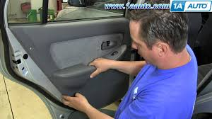 how to install remove rear door panel 2001 06 hyundai elantra