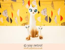 kitsch 1950s cat kitten ornaments marion cbell vintage shop