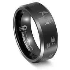 Deer Antler Wedding Rings by Amazon Com Three Keys Jewelry 8mm Skull Deer Head Track Tungsten