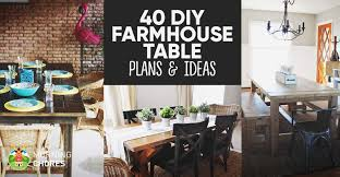 Diy Farmhouse Dining Room Table 40 Diy Farmhouse Table Plans Ideas For Your Dining Room Free