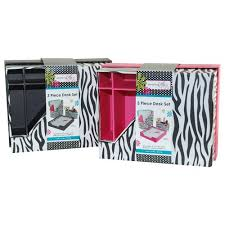 Zebra Desk Accessories Everything 3pc Desk Set Zebra Walmart