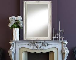 Shabby Chic Large Mirror by Full Length Mirror For Sale Vintage White Baroque Decorative