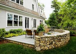Retaining Wall Patio Stone Patio Wall Ideas