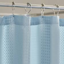 Teal Ruffle Shower Curtain by Ombre Ruffle Shower Curtain Shower Curtain Rod