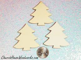 wood christmas tree ornaments set of 25 for sale church house