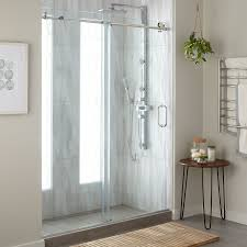 60 dorsey frameless sliding shower door bathroom
