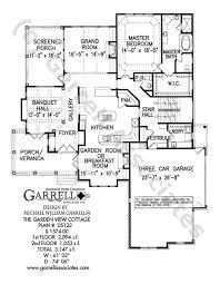 Garden Floor Plan Garden View Cottage House Plan House Plans By Garrell Associates